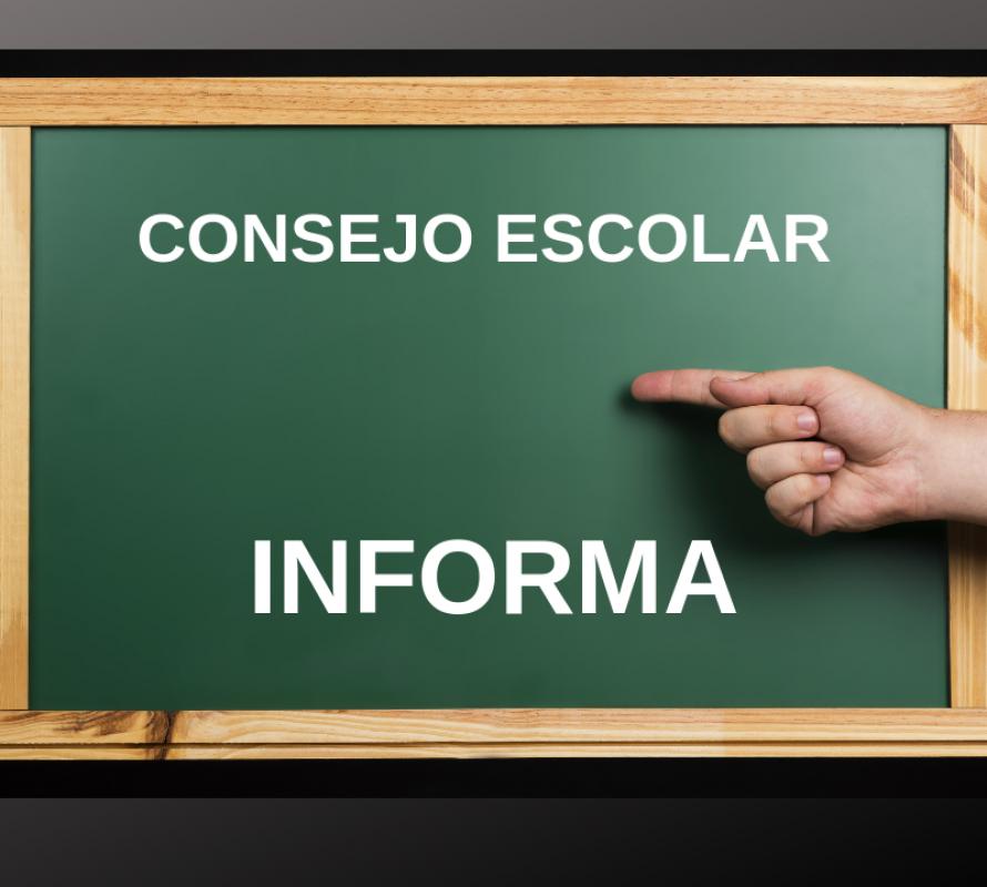 Consejo Escolar informa