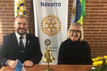 Kintina Saldanhas asumió la Presidencia del Rotary y habló con Navarro Noticias