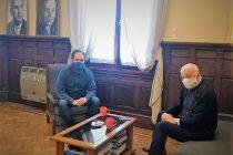 Reunión entre el intendente Santiago Maggiotti y el concejal radical Alfredo Castellari