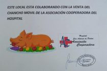 Se sorteó el «Chancho Móvil» de septiembre,de la Cooperadora del Hospital.