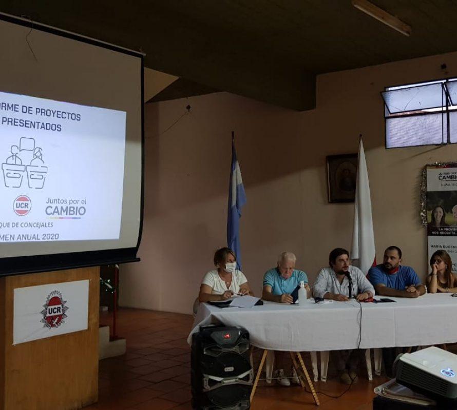 Concejales radicales ofrecieron en conferencia, información del trabajo realizado en 2020