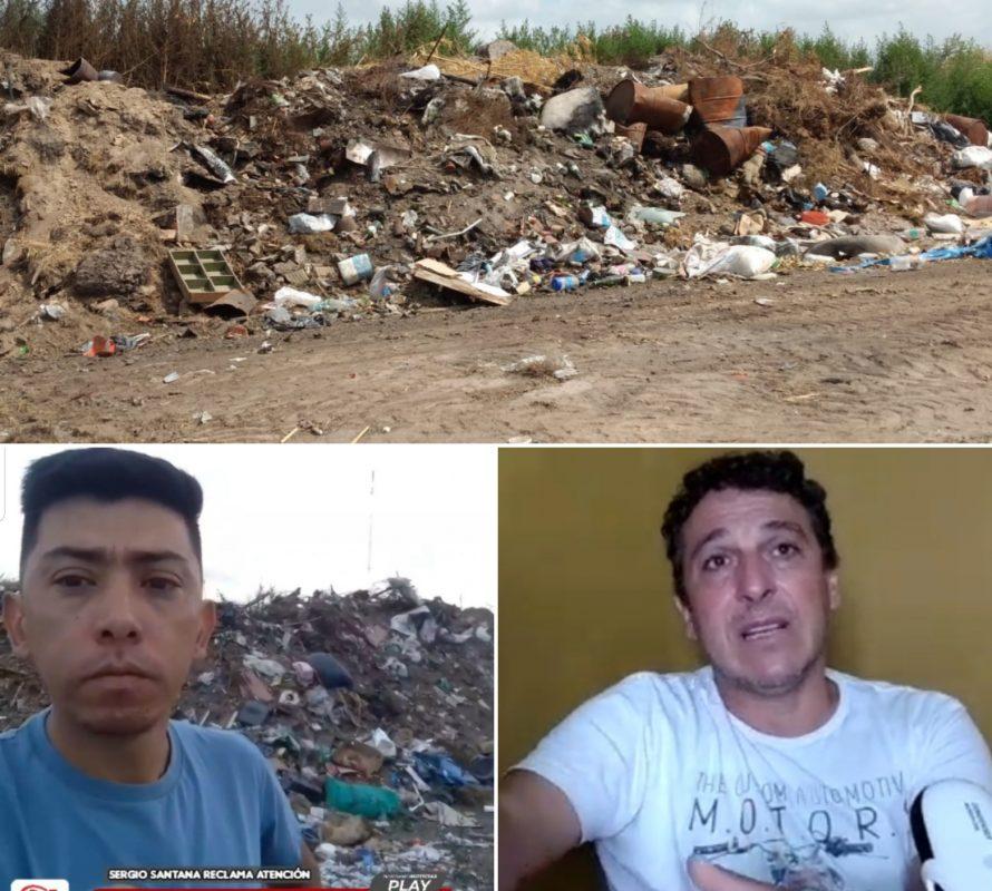 Basura en El Churrinche: Reclamo de Sergio Santana y respuesta de Hernán Ferrari