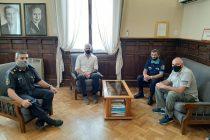 Personal de Seguridad se reúnen con el intendente y director de Seguridad