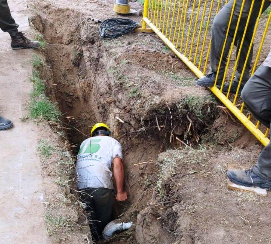 Se amplía la red cloacal en el Barrio Nueva Esperanza