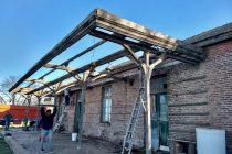 Reparación de techos y andén de la antigua Estación del Sud