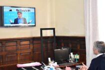El intendente en videoconferencia por el plan PREIMBA de obras para toda la provincia de Buenos Aires